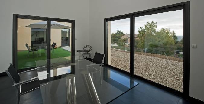 Porte Fenêtre Coulissante à Galandage En Aluminium Martigues Et